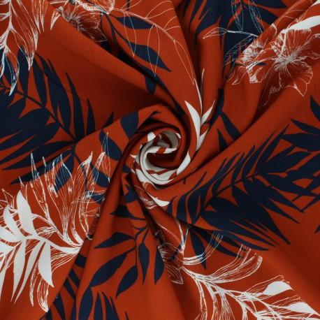 Tissu viscose Atelier Jupe Oria - rouille x 10cm