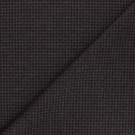 Tissu Jersey Milano Houndstooth - rouge x 10cm