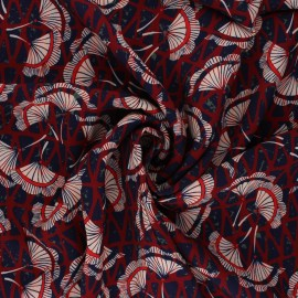 Tissu viscose Atelier Jupe Kalingko - rouge x 10cm