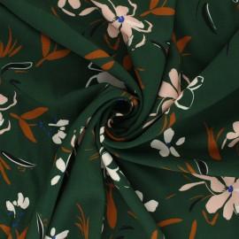Viscose fabric Atelier Jupe - green Judith x 10cm