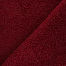 Sheep fur fabric - red x 10cm