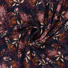 Tissu viscose Atelier Jupe Lexi - bleu nuit x 10cm