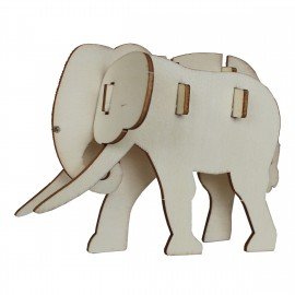 3D animals wooden puzzle to customize