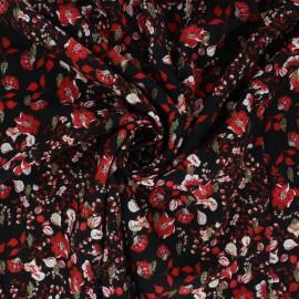 Tissu viscose lurex Atelier Jupe Valentina - noir x 10cm