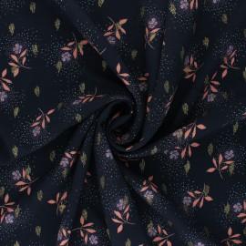 Lurex Viscose fabric Atelier Jupe - midnight blue Azélie x 10cm