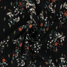 Tissu viscose lurex Atelier Jupe Samia - noir x 10cm