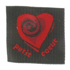 "Label ""Petit coeur"" - grey/red"