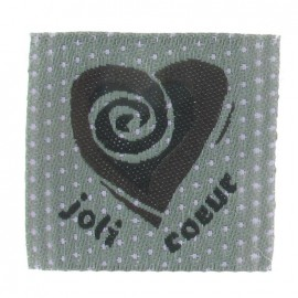 "Label ""Joli coeur"" - grey"