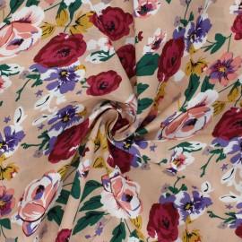 Cotton poplin fabric - sand Alexine x 10cm