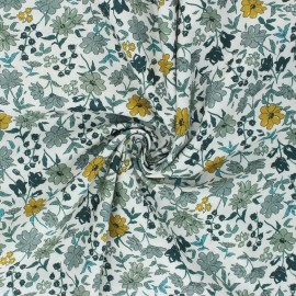Cotton poplin fabric - green Laédia x 10cm