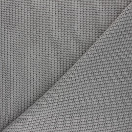 Ribbed knit fabric - mouse grey Mila x 10cm
