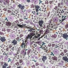 Cotton poplin fabric - purple Laédia x 10cm