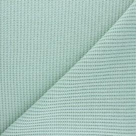 Tissu Maille côtelé Mila - vert amande x 10cm