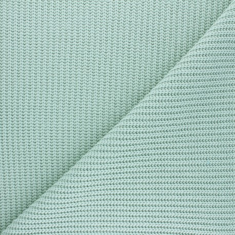 Ribbed knit fabric - almond green Mila x 10cm