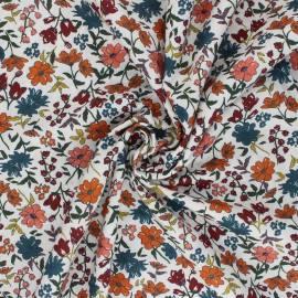 Cotton poplin fabric - orange Laédia x 10cm