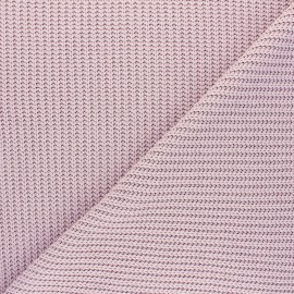 Ribbed knit fabric - old pink Mila x 10cm