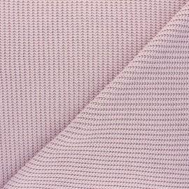 Tissu Maille côtelé Mila - vieux rose x 10cm