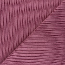 Ribbed knit fabric - rosewood pink Mila x 10cm