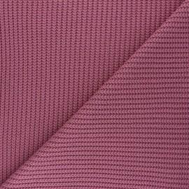 Tissu Maille côtelé Mila - bois de rose x 10cm
