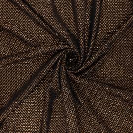 Tissu satin gaufré Funky New Year - cuivre x 10cm