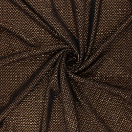 Waffle satin fabric - copper Funky New Year x 10cm