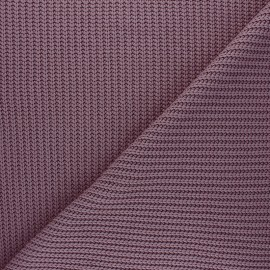 Tissu Maille côtelé Mila - violet d'évêque x 10cm
