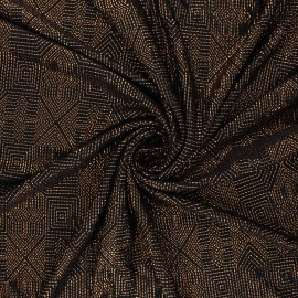 Tissu satin gaufré Celebration - cuivre x 10cm