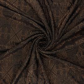 Waffle satin fabric - copper Celebration x 10cm