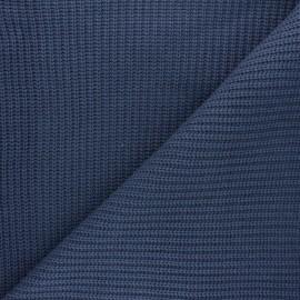 Tissu Maille côtelé Mila - bleu saphir x 10cm