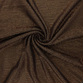 Waffle satin fabric - copper Boogie nights x 10cm