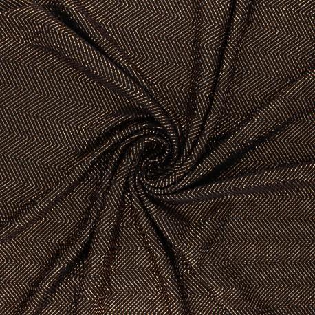 Tissu satin gaufré On the floor - cuivre x 10cm