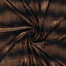 Tissu satin gaufré Champagne shower - cuivre x 10cm