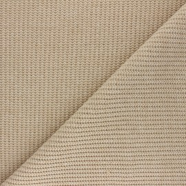 Ribbed knit fabric - sand Mila x 10cm