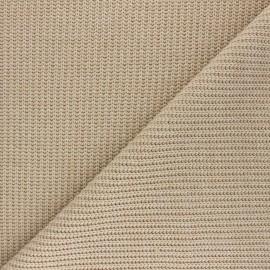 Tissu Maille côtelé Mila - sable x 10cm