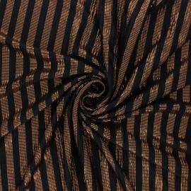 Tissu satin gaufré Hung up - cuivre x 10cm