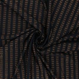 Waffle satin fabric - copper Rhythm of the night x 10cm