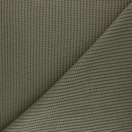 Ribbed knit fabric - olive green Mila x 10cm