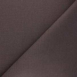 Tissu toile de coton natté réversible - cacao x 10cm
