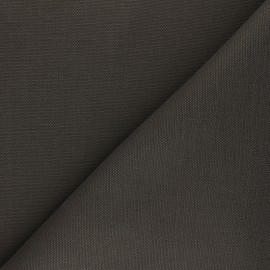 Reversible braided cotton fabric (280 cm) - dark khaki green x 10cm