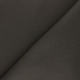 Tissu toile de coton natté réversible - kaki foncé x 10cm