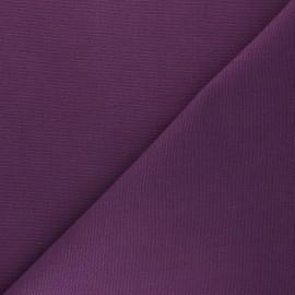 Tissu toile de coton natté réversible - violet x 10cm