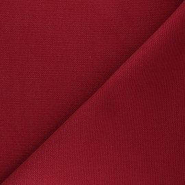 Reversible braided cotton fabric (280 cm) - carmine red x 10cm