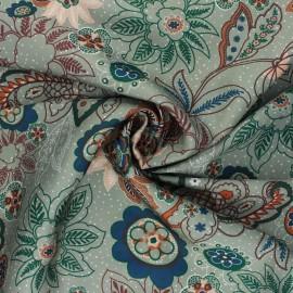 Tissu satin polyester Sanyl - vert sauge x 10cm