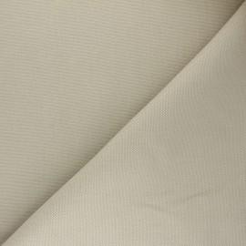Tissu toile de coton natté réversible - grège x 10cm