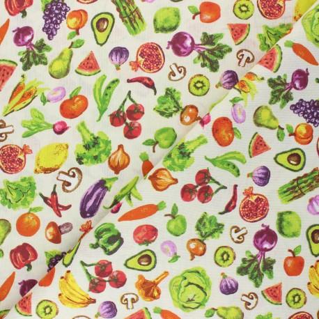 Cretonne cotton Fabric - raw Primeur x 10cm