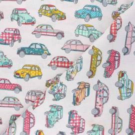 Cretonne cotton Fabric - water pink Dedeuche x 10cm