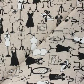 Polycotton linen aspect canvas - natural Dressing x 10cm