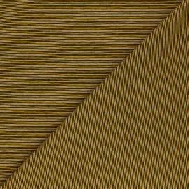 Tissu jersey Fine Stripes - jaune moutarde x 10cm