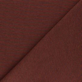Tissu jersey Fine Stripes - rouille x 10cm