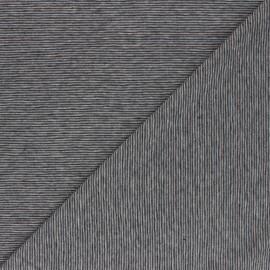 Printed Jersey fabric - grey Fine Stripes x 10cm